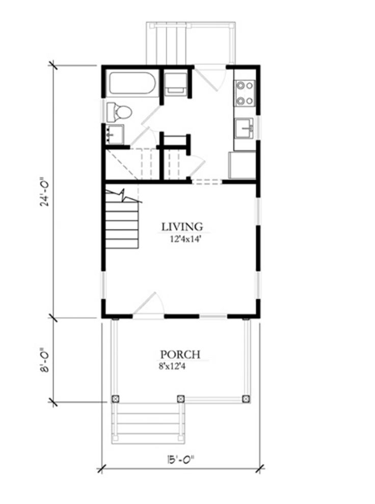 Cottage Main Floor Plan Plan 514 9