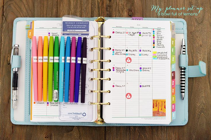 1000 ideas about personal planners on pinterest filofax for Color coding planner