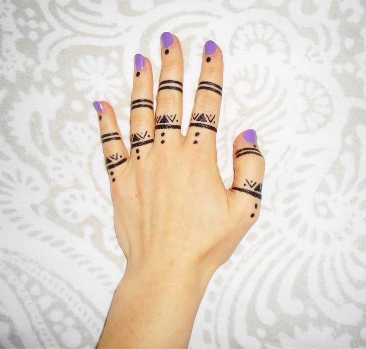 Henna Finger Tattoos: 31 Best Henna Tattoo Fingers Images On Pinterest