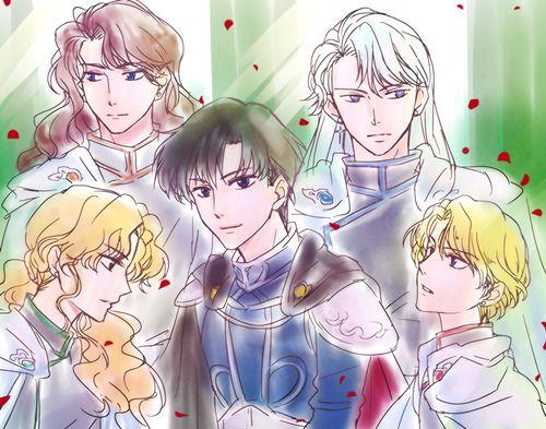 Prince Endymion x Shitennou / Master by 一反モメン on pixiv