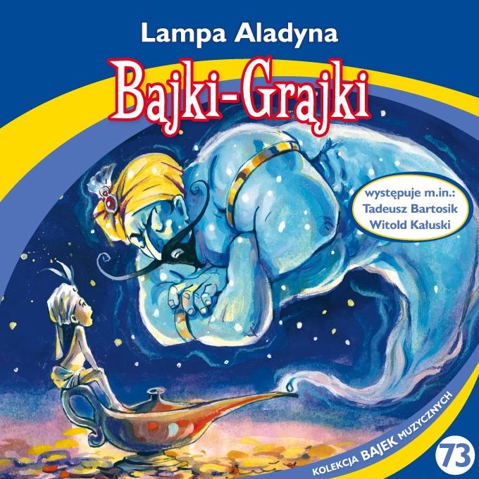 """Bajki-Grajki nr 73 """"Lampa Aladyna""""  Ilustracja: Artur Gołębiowski"""