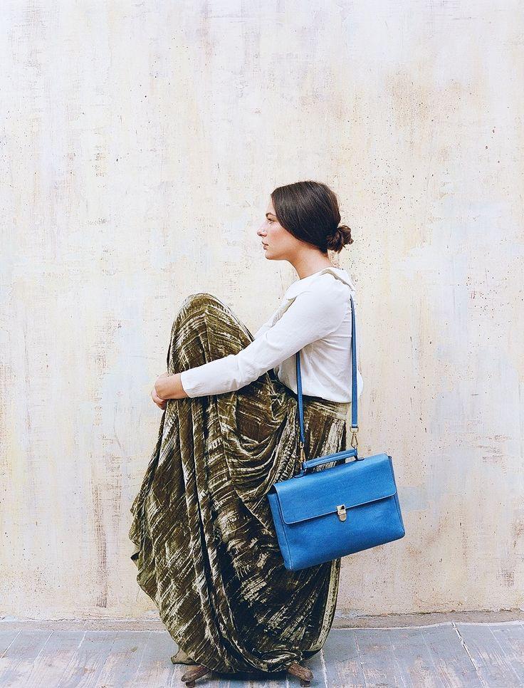 One more Noemi bag in blue colore. Портфель Noemi, на этот раз в синем цвете.