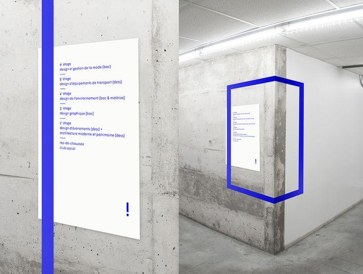 Exposition de fin d'année des programmes de l'école de design de l'UQAM, occupant pour la première fois tous les étages du pavillon. L'identité flexible a été conçue de façon à évoluer parallèlement à lasituation imprévisible causée par la grève étudiant…
