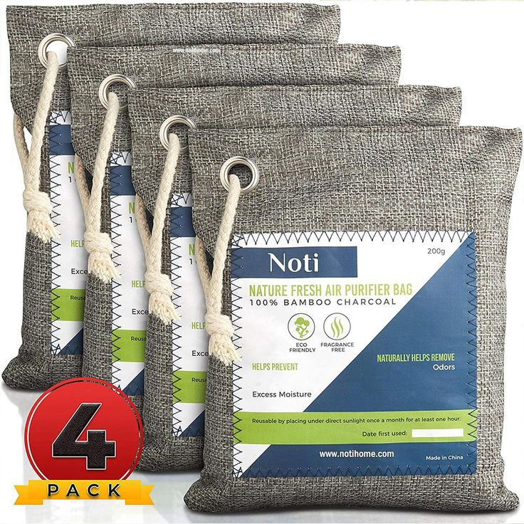 Nature Fresh Air Purifier Bags Activated Bamboo Charcoal