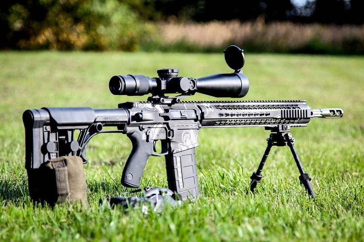 """@RadicalFirearms RF-10 .308 rifle and @USOpticsInc LR-17 just sitting here saying """"Come shoot me!"""". - What would you want to hunt with this bad boy? by ar15news"""