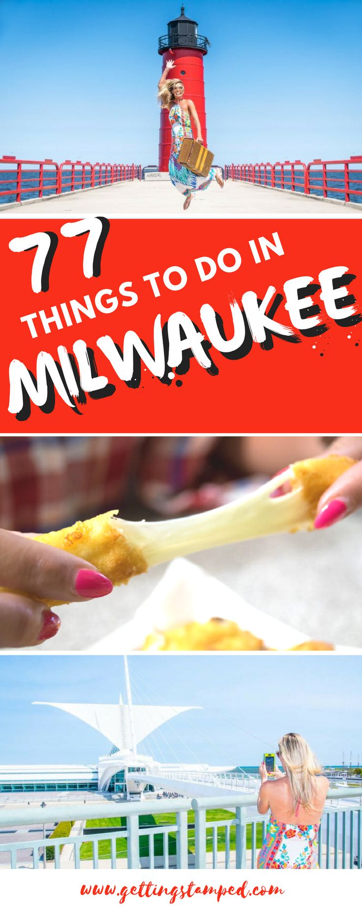 #Milwaukee offers each visitor a unique opportunity to jump into a thriving, busy, contemporary city. If you're looking for things to do in Milwaukee, this list is a great place to start, but at 77 attractions and oddities, it's only the smallest sliver of what's available on any given day in Milwaukee || Getting Stamped - Couple #Travel & #Photography #Blog