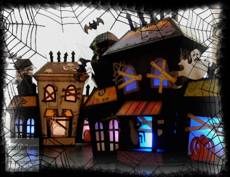 another haunted house from therese from our elmhurst hollow svg kit love this picture halloween dioramadiy - Halloween Diorama Ideas