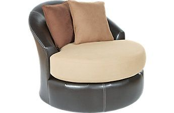 Gregory Beige Small Swivel Chair