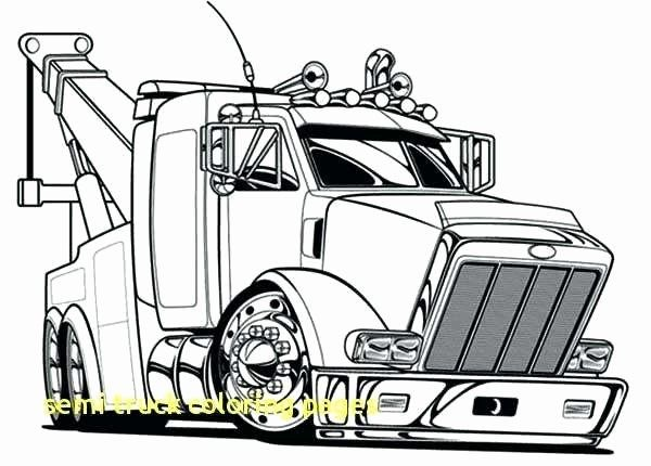 Transport Truck Coloring Pages Awesome Semi Truck Coloring Pages