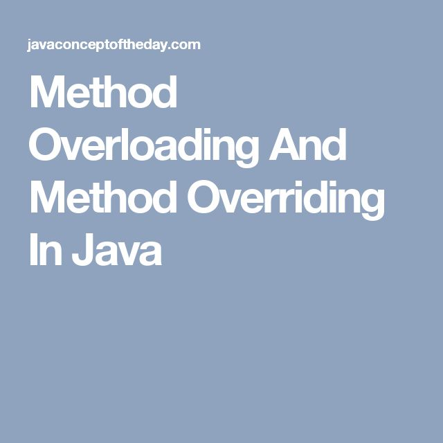 Method Overloading And Method Overriding In Java