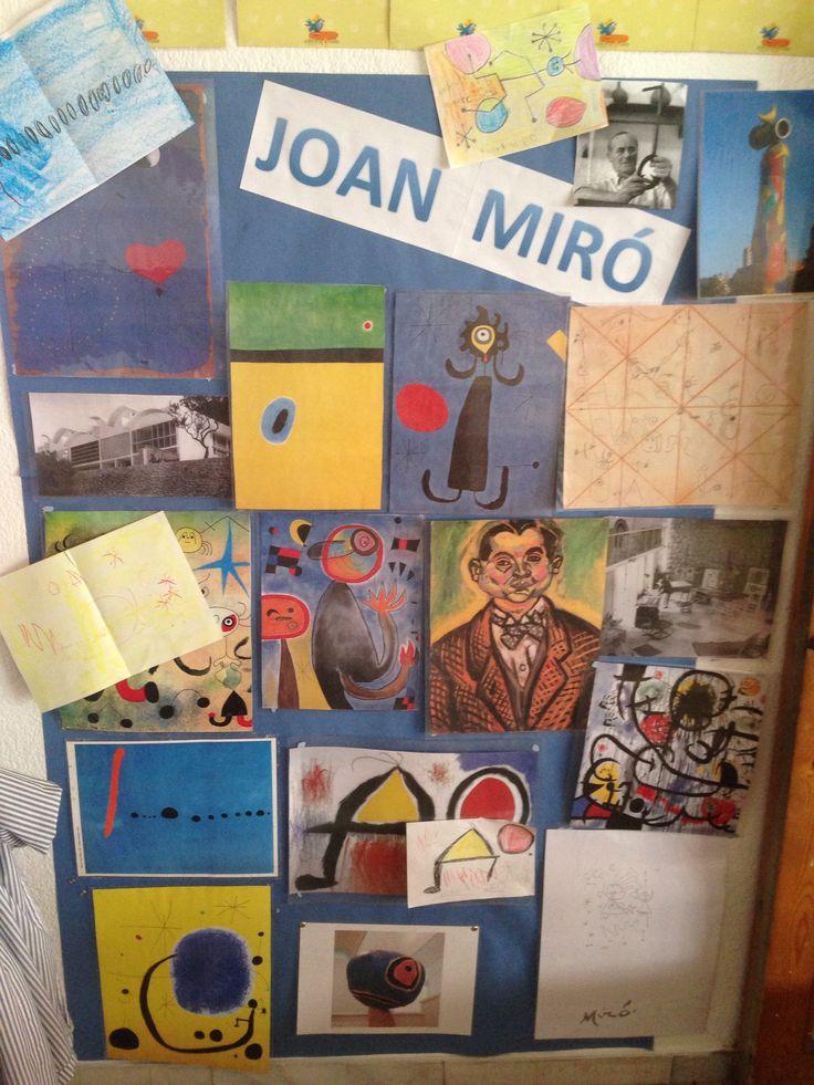 Mural de Miró de l'escola Vedruna Immaculada P4