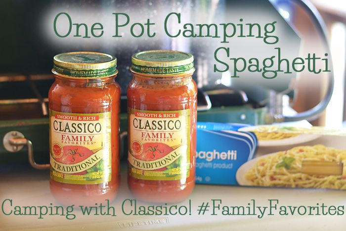 I will definitely have to try this next camping trip! One Pot Spaghetti Recipe Classico #FamilyFavorites #shop #client