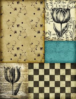 Ephemera's Vintage Garden: Free Printable - Tulip Collage Page