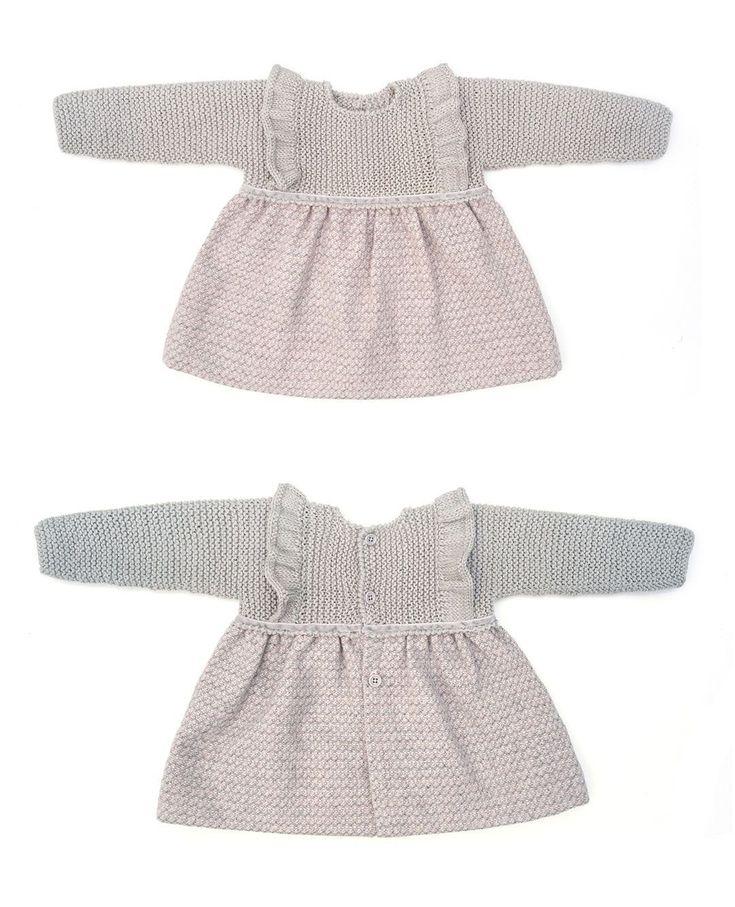 Cómo hacer un vestido de punto y tela combinado de bebé DIY - Tutorial y Patrón