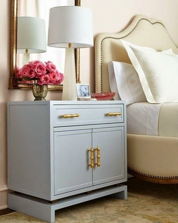 Gray Lacquer Nightstand | The Well Appointed House  http://www.wellappointedhouse.com/furniture/nightstands-bureaus/gray-lacquer-nightstand-free-shipping.html#ad-image-0