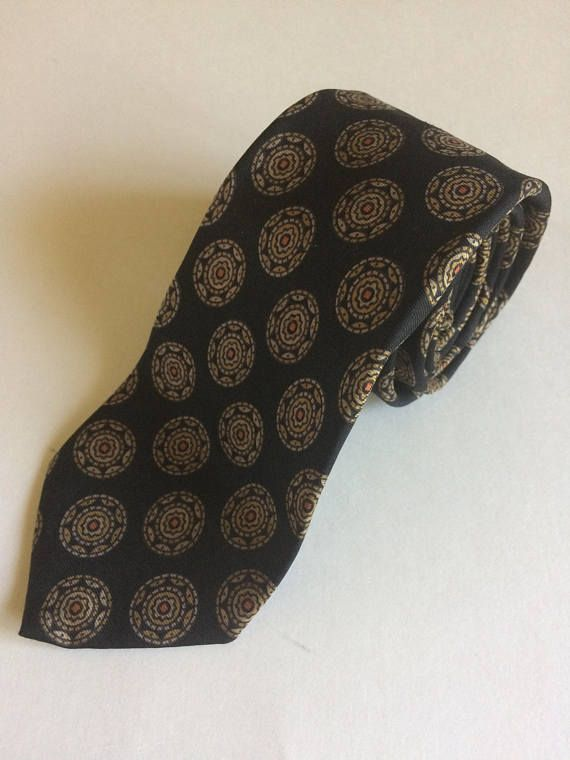 Vintage Christian Dior Men's Necktie with Overall Gold