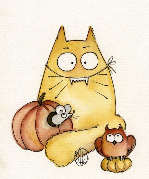 Кот рисунок смешные, прикольный рисунок