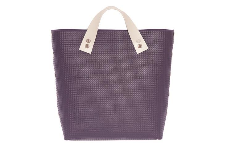 DAMPAI' - Bernarda Handbag TWO SHORT - Violet (by Simona Giovannetti architect)