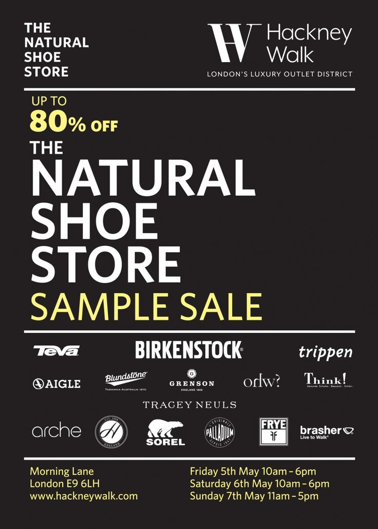 The Natural Shoe Store Sample Sale  -- London -- 05/05-07/05