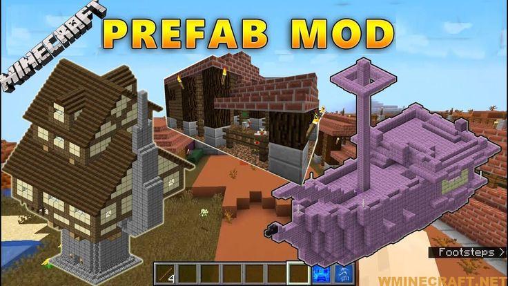 Prefab Mod 1 16 4 1 16 3 1 15 2 A Tool That Provides Built In Constructions Prefab Minecraft Mods Mod