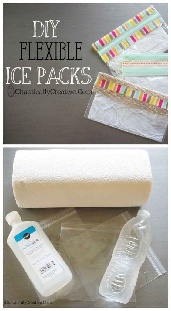 DIY ICE PACKS   FAST EASY FLEXIBLE AND CHEAP  NOT TO ICY COLD FOR YOUNG KIDS   - Chaotically Creative
