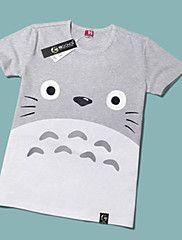 Ispirato da il mio vicino Totoro Gatto Anime Costumi Cosplay Cosplay T-shirt Con stampe Giallo Maniche corte T-shirt