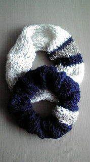 メリヤス編みのシュシュの作り方