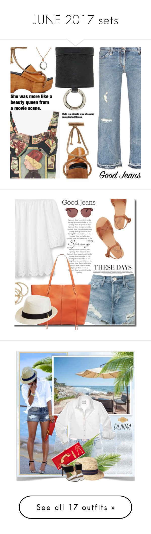 """JUNE 2017 sets"" by shoaleh-nia on Polyvore featuring Simon Miller, Rebecca Pinto, Gap, 3x1, Rebecca Minkoff, ABS by Allen Schwartz, Melissa Odabash, Oliver Peoples, Ancient Greek Sandals and Oris"