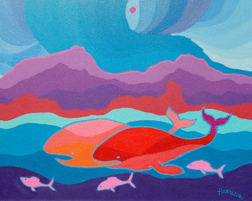 The Whales of Monterey School. Ted Harrison.