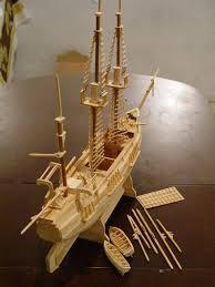 Resultado de imagem para como fazer um barco de palito de picole passo a passo