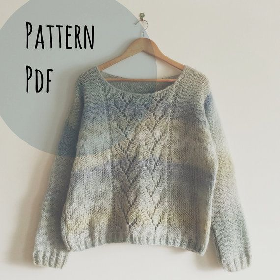 Sweater Sweet Sweater Size M Pattern in English and French, 2 PDF (1 french PDF and 1 english PDF). All following products are digital PDF