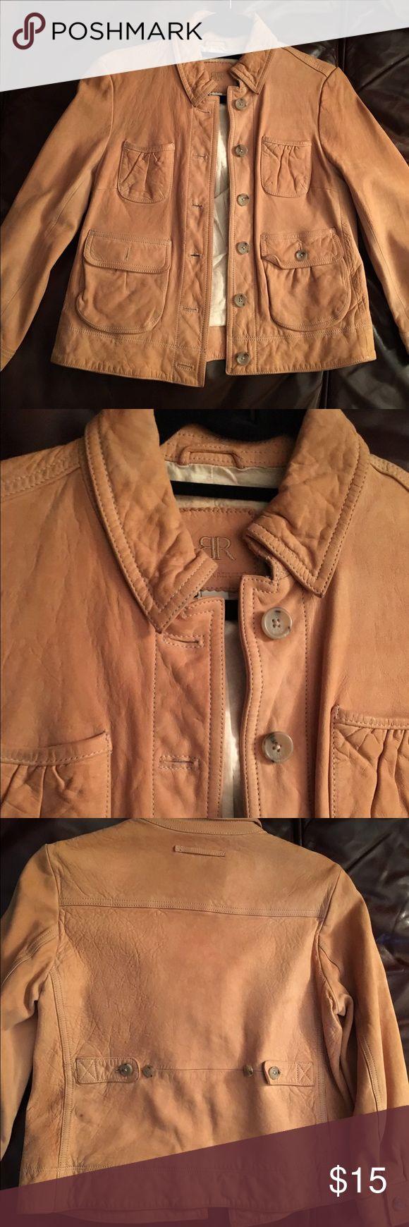 Banana republic tan leather jacket Banana republic tan leather jacket in good condition Banana Republic Jackets & Coats