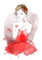 Red dress. #dress #red #girl