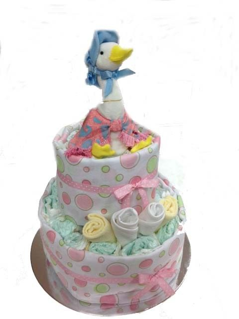 Jemima Puddle Duck Nappy Cake - 2 Tier