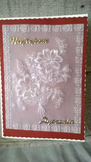 Pasje i eksperymenty: Kartka z kwiatami pergamano