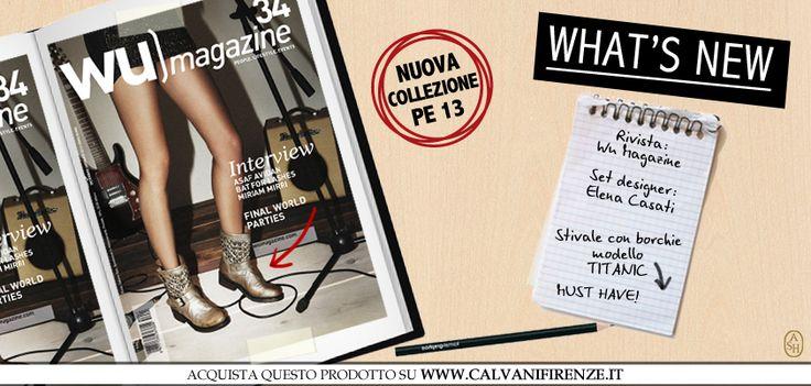 WU magazine dedica un'intera copertina allo stivale Titanic dorato con borchie! Il must have super rock di Ash! #ashitalia