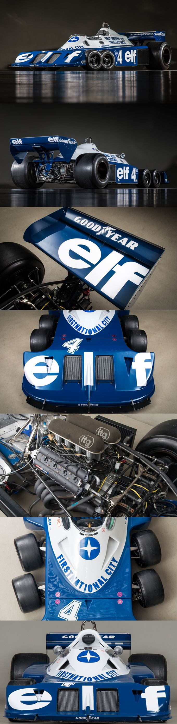 1976 Tyrrell P34 / Elf / UK / Formula1 / competition / blue white / 6-wheeler / Canepa.com