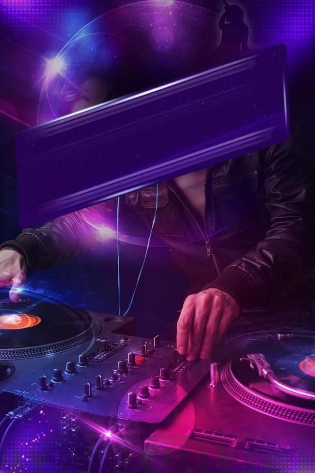 Purple Cool And Vibrant Bar Party Background Material