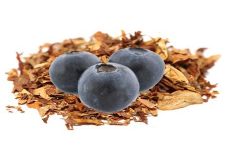 Blueberry-bacco E-Liquid Tastes Like: Smooth Tobacco infused with a hint of blueberry. 100% American Ingredients: Natural Tobacco Extract (Flavor/Nicotine & Flavor), Natural and Artificial Flavors, USP Vegetable Glycerin, USP Propylene Glycol