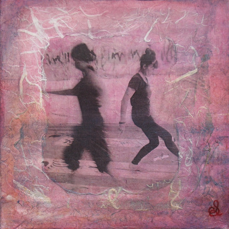STRINGER, CATHERINE 'Dancing Past' Mixed media on canvas Size: 31x31x2.8 $300