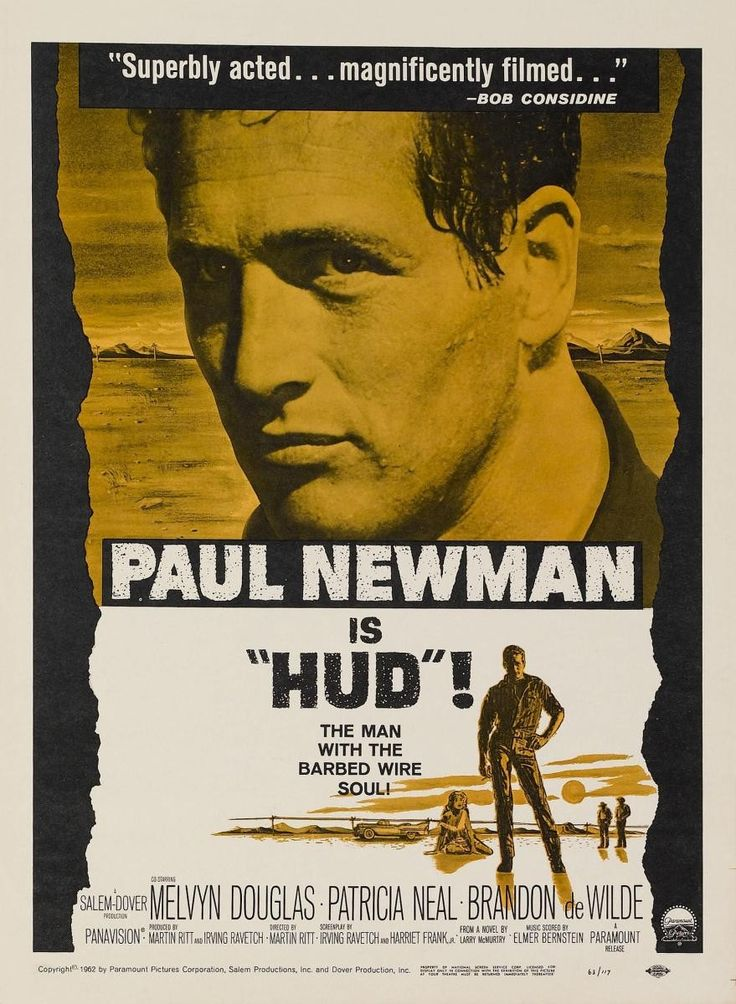 Hud (1963) Melvyn Douglas - Best Supporting Acto Oscar 1963
