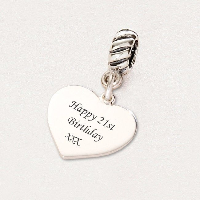 Pandora Birthday Charms | Happy 21st Birthday charm Sterling Silver fits Pandora (panrp-21st)