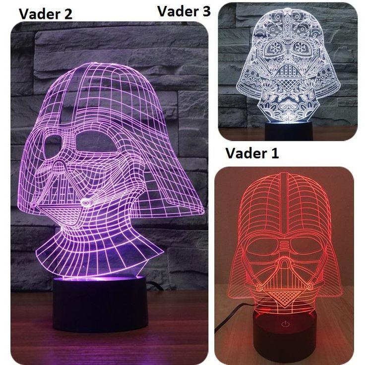 [Visit to Buy] 7 Color Led nightlight Lampada Darth Vader Star Wars 3D Tocco di Luce USB light Lampada Da Tavolo Camera Da Letto Decor IY803527 #Advertisement