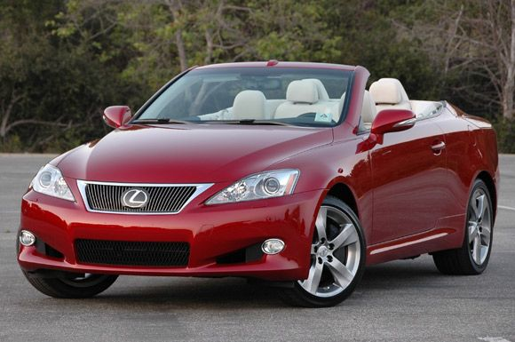 Red Lexus convertible....a must