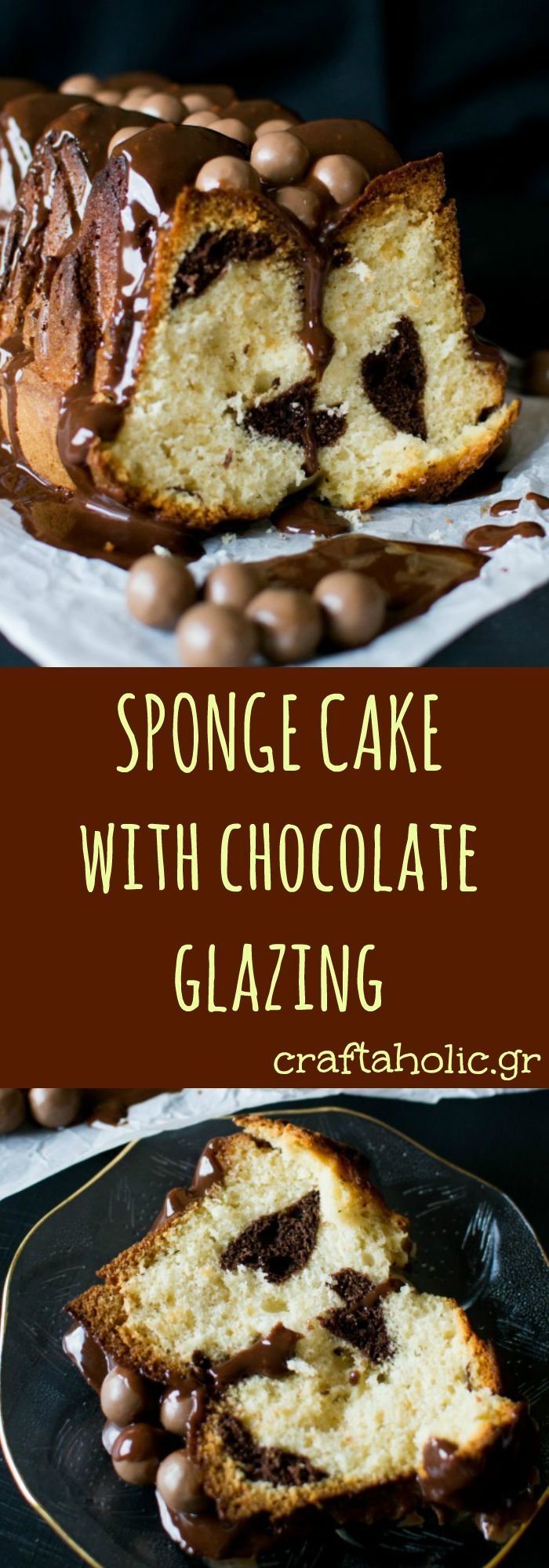 A delicious sponge cake glazed with chocolate and decorated with maltesers