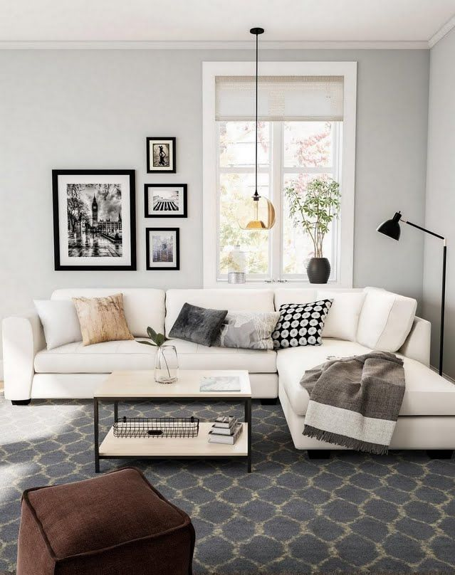 Classic Gray And Beige Living Room Beige Living Rooms Apartment