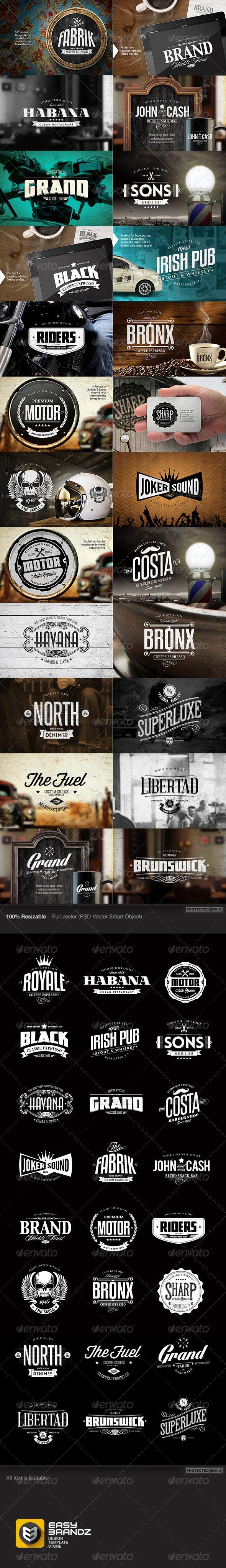 24 Badges & Logos Bundle | Buy and Download: http://graphicriver.net/item/24-badges-logos-bundle/7103911?WT.ac=category_thumb&WT.z_author=Easybrandz2&ref=ksioks