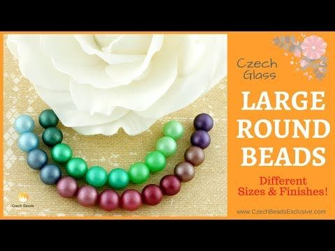 LARGE ROUND Czech Glass Beads - New Arrivals    #dawanda #dawanda_de #dawandashop #etsy #etsyshop #etsystore #etsyfinds #etsyseller #amazon #amazondeals #alittlemercerie #roundbeads #chunkybeads #largebeads #czechbeads #glassbeads