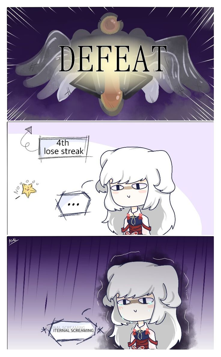 Im having a bad time witb rank this week. ;-; dont kno if u relate to dis comic but it really really what it looks like when getting lose streaks.