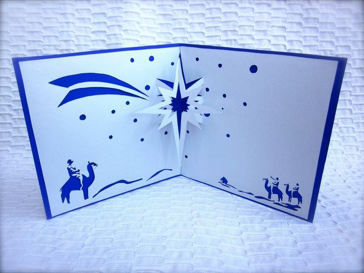 carte kirigami NOËL étoile du berger : Cartes par bouclesbyfiona